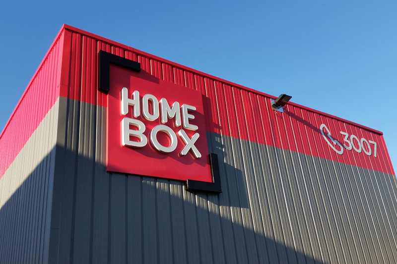 Home box, lettres boitiers lumineuses, pose pour SGIV