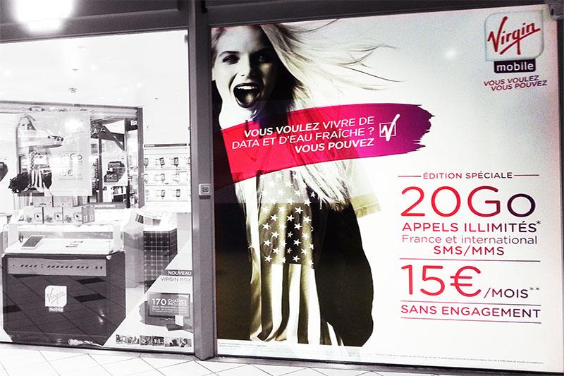 Impression numérique sur vitrine, pose pour SGIV à Valence