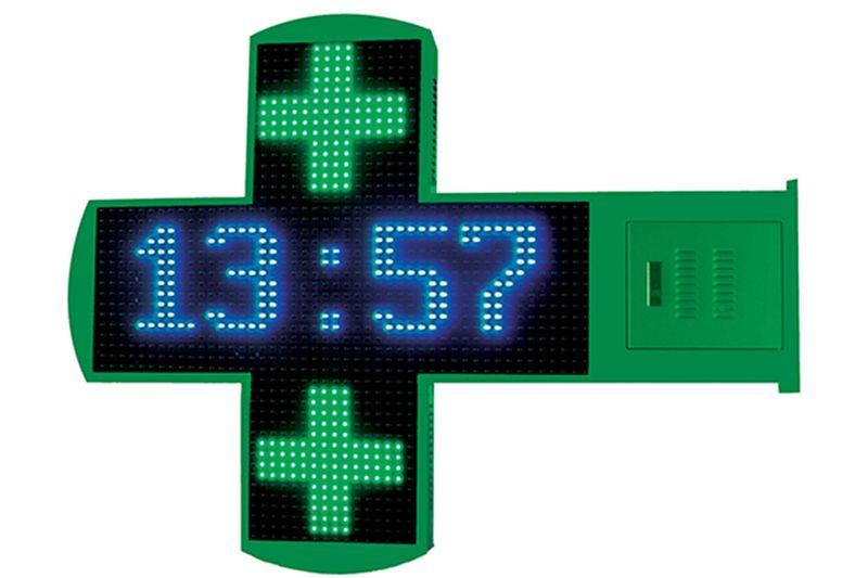 Croix pharmacie forme arrondie