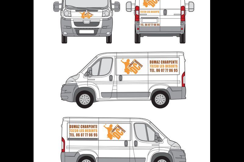 Projet pour marquage adhésif véhicule